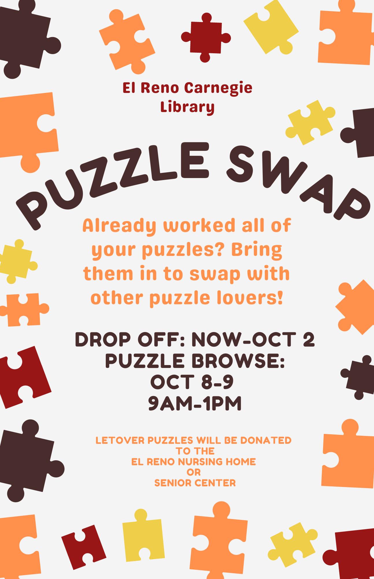 Puzzle Swap Flyer